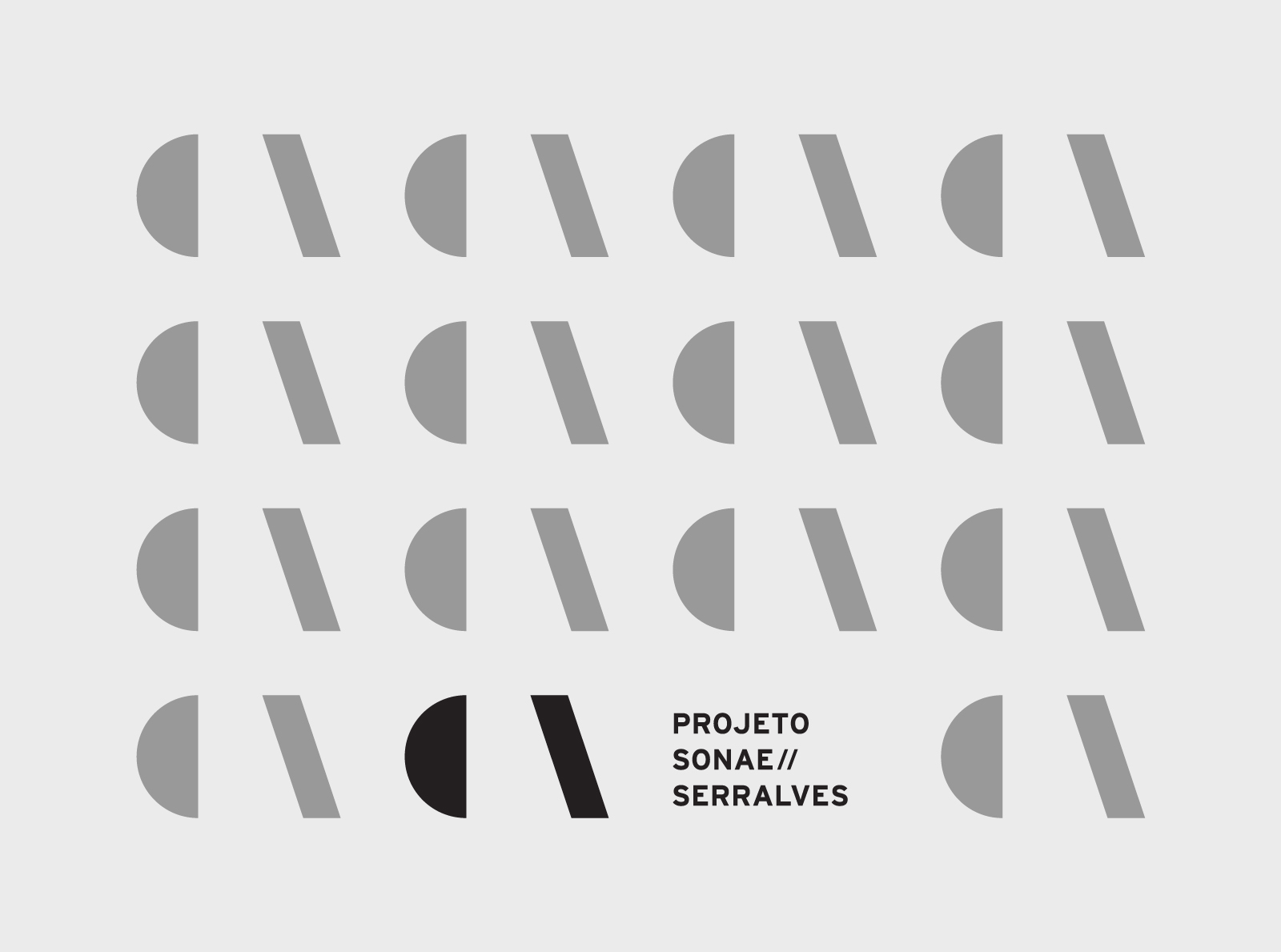 Projecto Sonae//Serralves ⟐ Logo and pattern