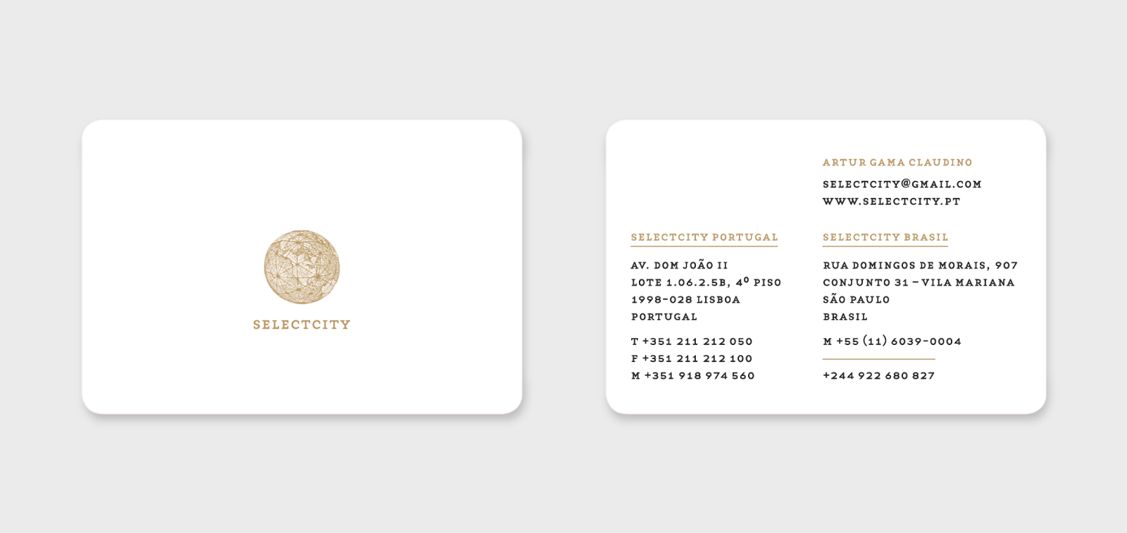 Selectcity ⟐ Business card